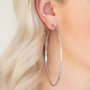Shimmer Maker Silver Hoop Earrings